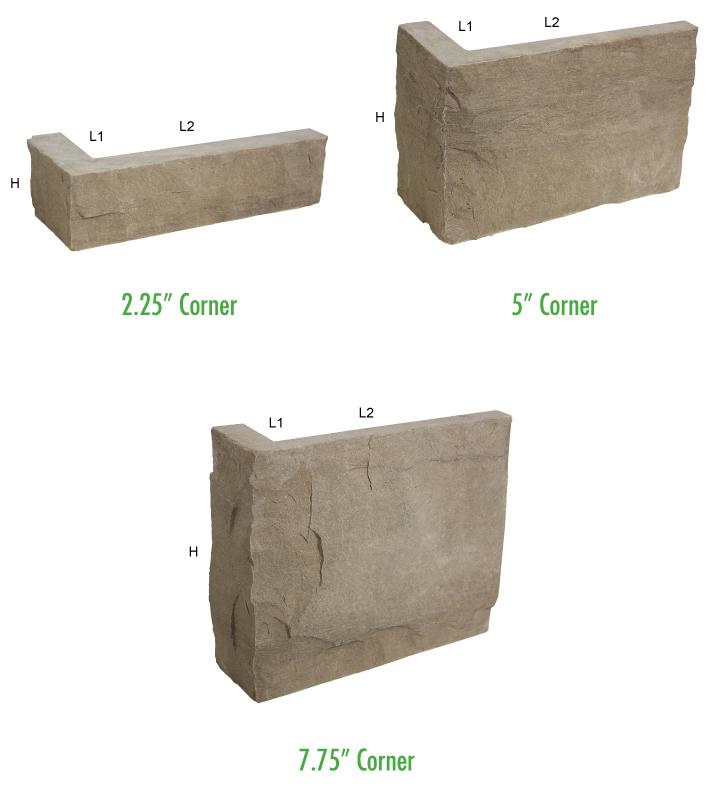 masonry stone blend corner pieces